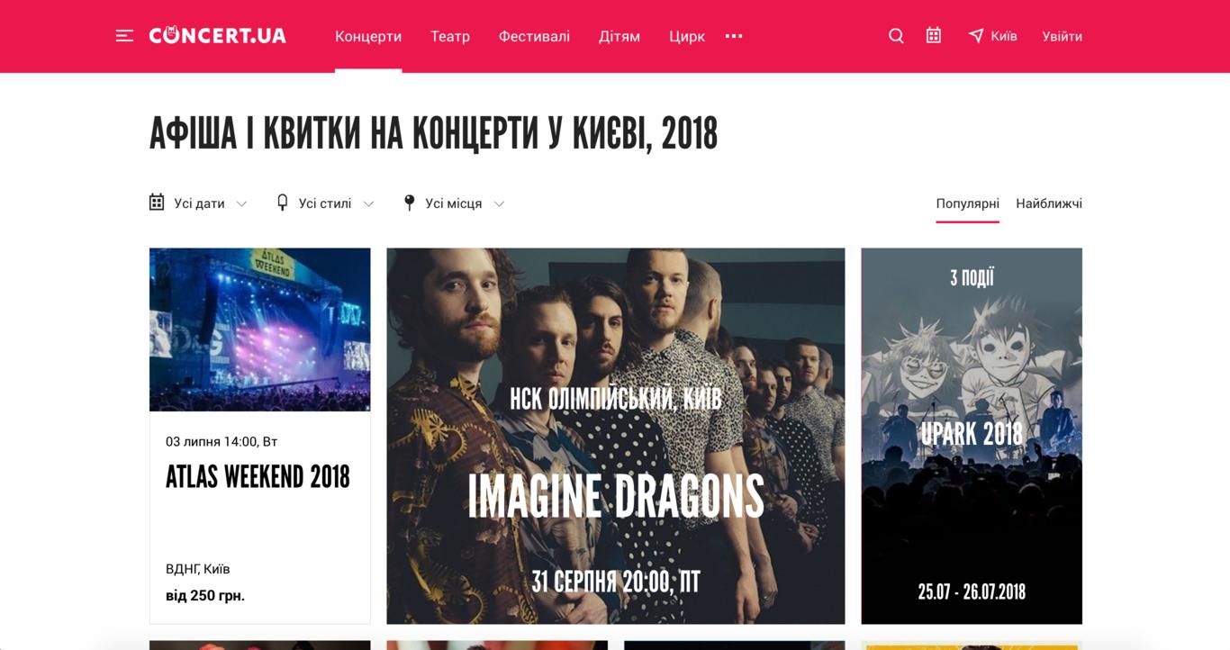 Популярне на Concert.ua
